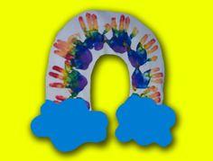 Handprint Rainbow 2 Preschool Art Project