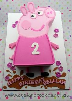 Peppa Pig Birthday Cake by Trish Jackson Designer Cakes, Kempsey, New South Wales, Australia. You'll find this Cake Appreciation Society Member in our Directory at www.cakeappreciationsociety.com