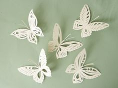 30 Place Cards Wine Glass Decoration Butterfly by MamaTita on Etsy, $75.00