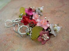 Like a bouquet of fresh flowers, these flower cluster earrings.... $38.00