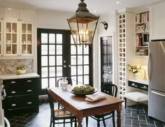 greige: interior design ideas and inspiration for the transitional home : Black in the kitchen