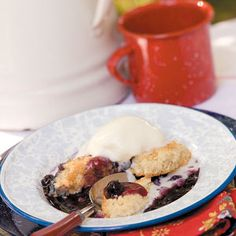 Campfire Cobbler (fresh berries/fruit and sugar instead of pie filling?)