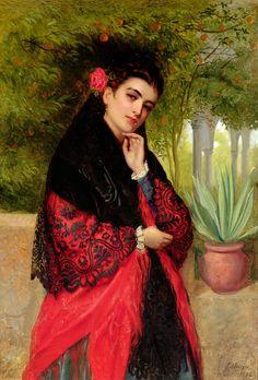 A Spanish Beauty -John-Bagnold Burgess
