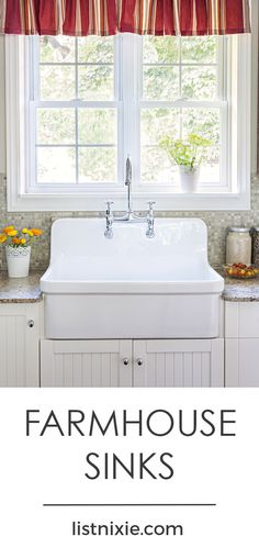 10 gorgeous farmhouse sinks you'll fall in love with - Thinking of upgrading to a farmhouse sink in your kitchen? Here are ten examples of how you can make your sink the star of the show. | listnixie.com