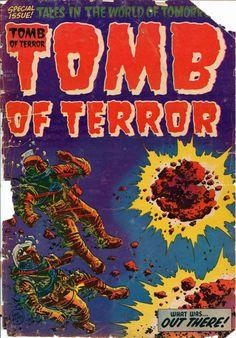 Tomb of Terror 13 1954 Harvey Horror Nostrand Powell GVG Sci Fi Comics, Fantasy Comics, Old Comics, Horror Comics, Fantasy Art, Horror Tale, Sci Fi Horror, Old Comic Books, Comic Book Covers