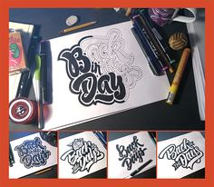 «Back In The Days». Lettering + GIF on Behance