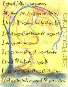 Chakra Affirmations : Healing and Energy Work Chakra Mantra, Chakra Meditation, Chakra Healing, Sacral Chakra, Chakra Affirmations, Positive Affirmations, Les Chakras, Solar Plexus Chakra, Holistic Healing