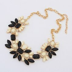 New Fashion Imitation Gemstone Colorful Necklaces Pendants Collares Chain Flower  Necklace for Women♦️ SMS - F A S H I O N 💢👉🏿 http://www.sms.hr/products/new-fashion-imitation-gemstone-colorful-necklaces-pendants-collares-chain-flower-necklace-for-women/ US $2.33