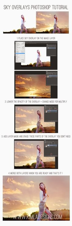 How to use Sky Overlays Free PS Tutorial for Photographers - Kimla Designs