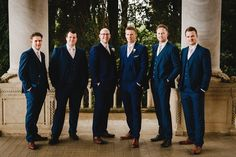 Handsome chaps! A Classic and Modern Lake Garda Wedding in Italy. Image by Andy Gaines.
