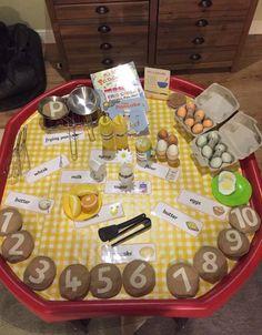 Pancake Day tuff tray