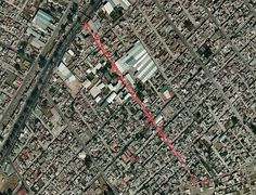Mexico City street market as captured by Google Earth.