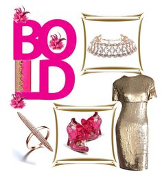 Bold & Gold by bodykandycouture on Polyvore featuring polyvore, fashion, style, Calvin Klein, Body Kandy Couture, Irregular Choice, NOVICA and clothing