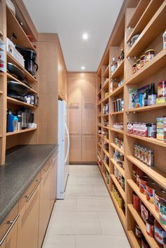 Pantry Design - is there enough space on the other wall of pantry for narrow can shelving like this?