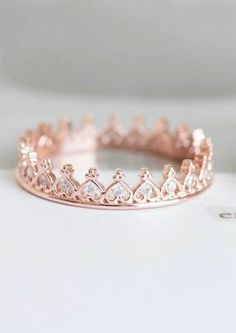 Heart Crown Ring/crown Jewelry/stacking Ring/couple Ring/heart Ring/princess Cut Ring/stacked Ring/ Pink Stacking heart crown ring - would make a great purity ring.Stacking heart crown ring - would make a great purity ring. Cute Rings, Unique Rings, Cute Promise Rings, Crown Promise Ring, Rose Gold Promise Ring, Cute Jewelry, Jewelry Accessories, Jewlery, Pink Jewelry