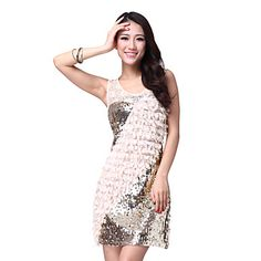 Dancewear Chiffon with Sequins Latin Dance Dress For Ladies More Colors