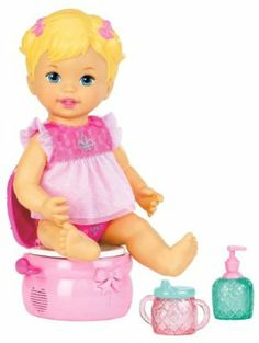 Little Mommy Princess and The Potty Doll by Mattel. $21.53. The perfect potty training baby doll every girl will love. Includes doll, potty, sparkly sippy cup, and hand sanitizer accessories for complete play. Doll gives girls nurturing, role-play and make-believe fun. It's time to celebrate a major milestone-Potty Training. Features realistic silly sounds and giggly phrases. From the Manufacturer                Little Mommy Princess and the Potty Doll: The next gene...