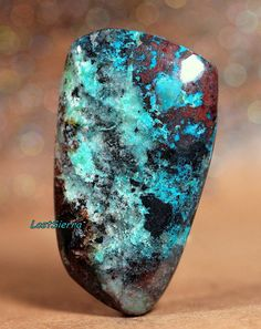Rare Old Stock Arizona Bisbee Turquoise Cabochon 26mmX45mmX6mm on Etsy, $34.00