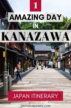 This day trip to Kanazawa itinerary covers the ancient samurai town's highlights, including the famous Higashiyama chaya district and Kenrokuen Garden. Tokyo Travel Guide, Japan Travel Guide, Travel Guides, China Travel, Bali Travel, Kanazawa Japan, Japanese Travel, Japan Destinations, Visit Japan