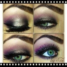 Purple & Gray Smokey Eye