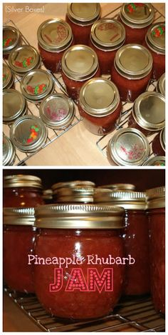 My dad made this and it was wicked good.... Silver Boxes: Pineapple Rhubarb Jam