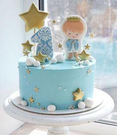 Boys First Birthday Cake, Baby Birthday Cakes, Baby Boy Cakes, Cakes For Boys, Prince Cake, Prince Party, Bithday Cake, Bakery Business Cards, Beautiful Birthday Cakes