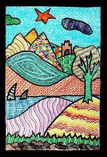 Loved these pen drawings on http://arteascuola-miriampaternoster.blogspot.de/2010/10/paesaggi-di-texture.html#