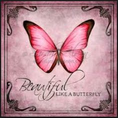 I love everything butterflies stand for...they start out as ugly caterpillars, but they emerge beautiful butterflies...