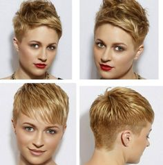 Layered, Short Pixie Haircut