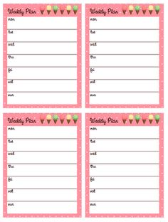 Cute Daily Planner Template Best Of Tinysandtea Free Weekly Printable Planner