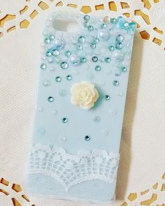 Coque iphone 5 decoden  Dentelle Rose blanche par PrettyChantilly
