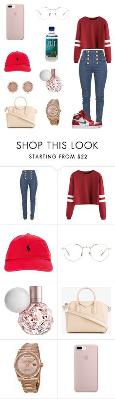 """"" by dajahknox ❤ liked on Polyvore featuring Balmain, Polo Ralph Lauren, Linda Farrow, Givenchy, Rolex and Michael Kors"
