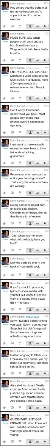 Kevin Farzad's tweets are some of the best… – Funny Stuff