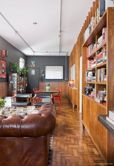 10 Decoracao Sala De Estar Integrada Paredes Escuras Moderno