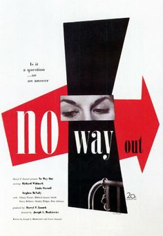 Paul Rand – Poster for No Way Out (1950)