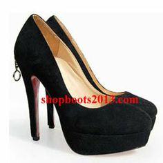 Discount Christian Louboutin Bianca Taper Toe Platform Suede Pumps Black Louboutin Pumps, Christian Louboutin, Discount Boots, Cl Shoes, Black Suede Pumps, Peep Toe, Platform, Booty, Heels