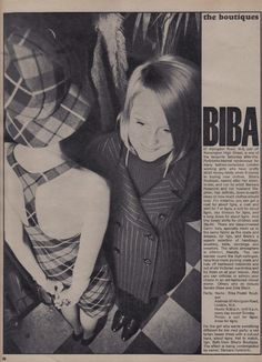 The New Boutiques Biba Postal Boutique, Victoria & Albert, Topgear and Harriet. Barbara Hulanicki, Biba Fashion, 60s And 70s Fashion, London Fashion, Vintage Fashion, Blue Green Paints, Swinging London, Twist And Shout, Victoria And Albert
