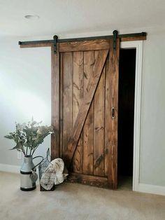 Barn Door - Sliding 1 Panel Z Style - Walston Door Company - September 21 2019 at Wood Barn Door, Barn Door Hardware, Rustic Barn Doors, Barn Style Doors, 48 Inch Barn Door, Diy Barn Door Plans, Barnwood Doors, Farm Door, Metal Barn