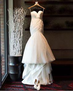 "3c93700f67f2 Kleinfeld Bridal on Instagram  "" Wedding day necessities  A  mark zunino  wedding dress and  badgleymischka shoes for the bride  asialastarr3!"