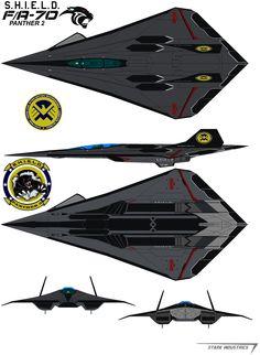 S.H.I.E.L.D. FA-70 Panther 2 by bagera3005.deviantart.com