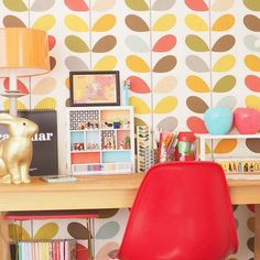 Un bureau haut en couleurs - Marie Claire Maison