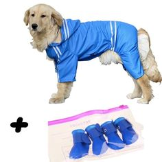 Raincoat for Large Dogs With Bonus Rain Shoes Dog Suit, Rain Suit, Rain Shoes, Dog Raincoat, Large Dogs, Fur Babies, Your Pet, Pup, Disney Characters