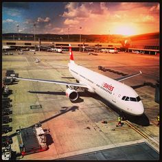 ready for takeoff! Switzerland Bern, Airports, Four Square, Aircraft, Places To Visit, German, City, Viajes, Deutsch