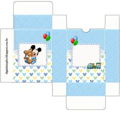 "Kit Personalizados ""Mickey Mouse Baby"" para Imprimir - Convites Digitais Simples                                                                                                                                                                                 Mais Festa Mickey Baby, Minnie, Baby Disney, Disney Mickey, Diy Paper, Paper Crafts, Disney Princess Party, Printable Crafts, Mouse Parties"