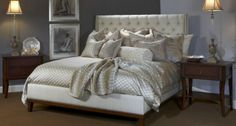 Tomasini's Belissimo Collection on a gorgeous Fremarc bed @ the Laguna Design Center