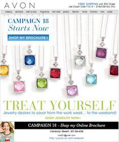 Campaign 18 has started shop online www.youravon.com/wstewart