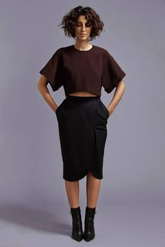 Barneys New York x Yasmin Sewell Oversize-Sleeve Cropped Top