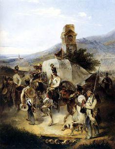 marsch_des_infanterieregimentes by Carl Schindler
