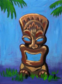 Tiki Tomi Events In May, Tiki Art, Arts And Crafts, Painting, Painting Art, Paintings, Art And Craft, Painted Canvas, Drawings