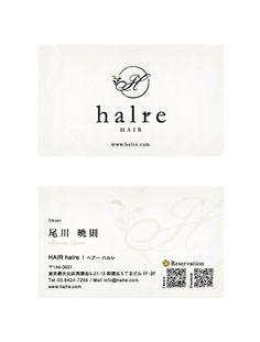 halre_Name Card   Beauty salon graphic design ideas   Follow us on www.facebook.com/...   美容室 デザイン 名刺 カード